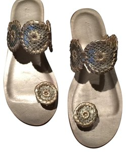 Jack Rogers Platinum metallic Sandals