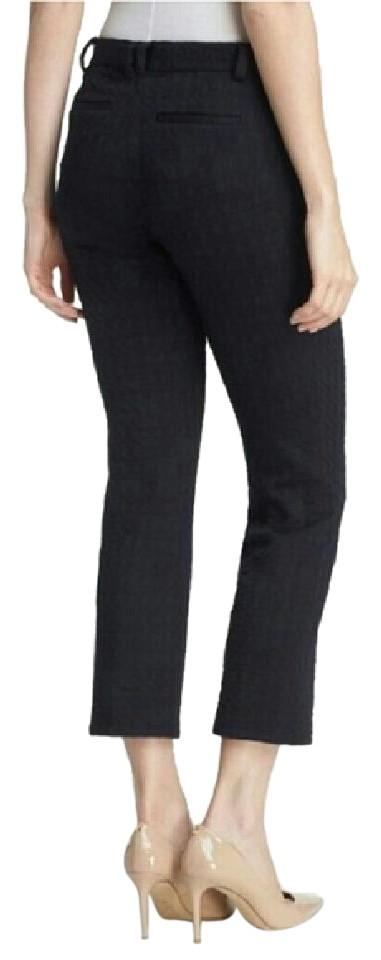 Tory Burch Cropped Kayden Navy Blue Capris - 72% Off Retail