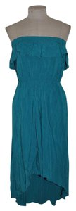 Lapis short dress Teal Hi Lo Resort Strapless Ruffle on Tradesy