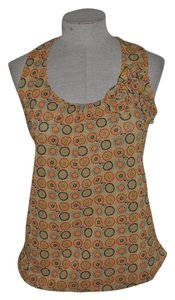Sweet Pea by Stacy Frati Double Mesh Casual Scoop Neck Resort Rosette Top
