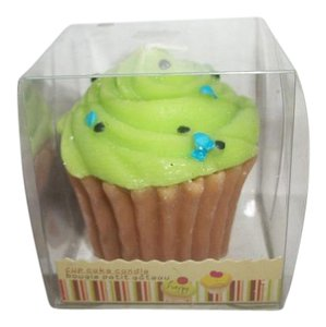Lime Green Cupcake Candle