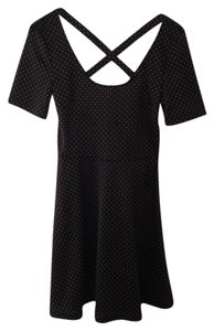 H&M short dress Black Polka Dot Crisscross Strap on Tradesy