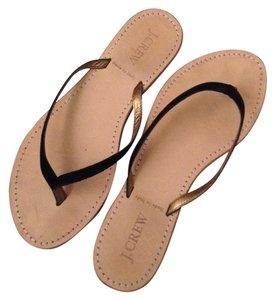 J.Crew Thong Flip Flop Slide Summer Casual Black Sandals