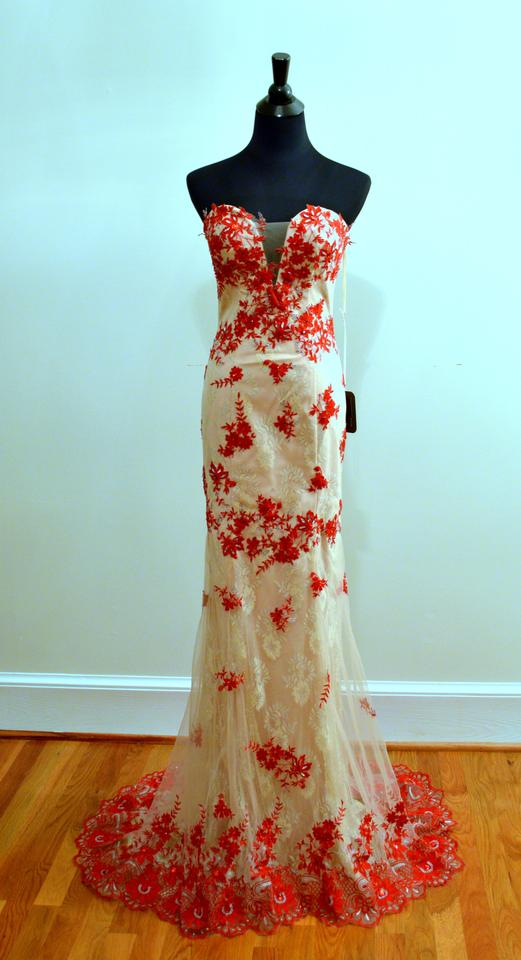 Kari Chang Couture Champagne / Red Lace Kc131584 Vintage Wedding ...