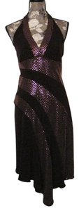 XOXO Hi Lo Halter Sparkle Dress