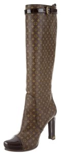 Louis Vuitton Idole Lv Monogram Brown, Beige Boots