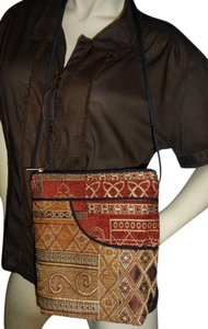 Danny K Beverly Hills Adjustable Strap Tapestry Hand Cut Hand Made Cross Body Bag