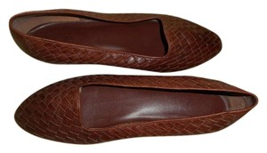 Bass Leather Woven Made In Brazil Brown Flats