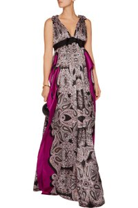 Lanvin Lanvin Pleated Printed Silk-satin Gown Wedding Dress