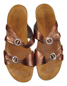 Naot Brushed Copper Leather Sandals