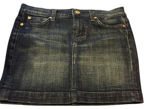 7 For All Mankind Mini Skirt Denim blue