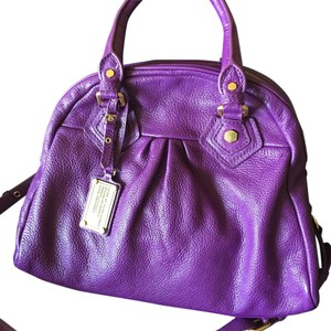 Marc by Marc Jacobs Leather Satchel in Purple