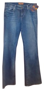 Seven7 New Casual Straight Leg Jeans-Distressed