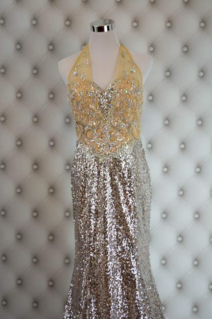 Kari Chang Couture Evening Gown Prom Pageant Sequin Dress