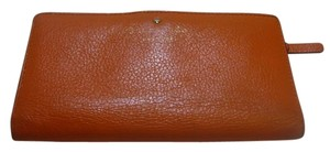 Kate Spade Kate SpadeClutch Leather Wallet Orange