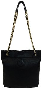 Tory Burch Book Marion Leather Chain Handles Shoulder Bag