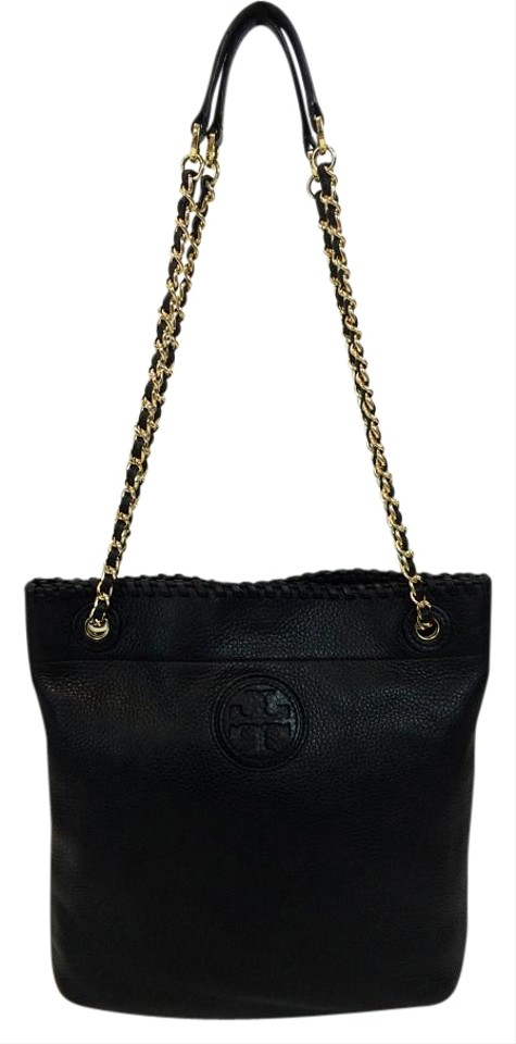 ef1a90d182db Tory Burch Marion Book Black Pebbled Leather Backpack - Tradesy