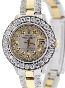 Rolex Ladies Datejust Diamond Watch With Box & Appraisal