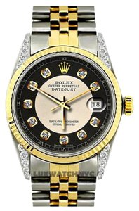 Rolex 36MM ROLEX DATEJUST DIAMOND ON THE LUGS WITH ROLEX BOX & APPRAISAL
