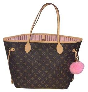 Louis Vuitton Neverfull Monogram Mm Rose Ballerine Light Pink Interior Canvas And Cowhide Leather Tote Tradesy