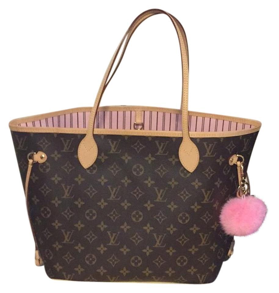 f1cf983cb8c7 Louis Vuitton Neverfull Monogram Mm Rose Ballerine Light Pink Interior  Canvas and Cowhide Leather Tote
