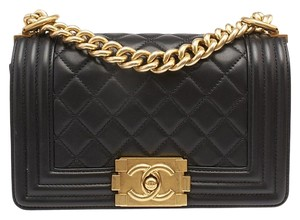 Chanel Small Boy Quilted Lambskin Shoulder Bag