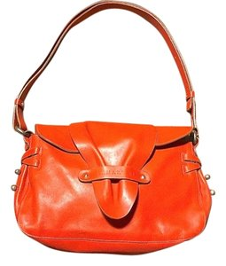 Lamarthe Red Brass Studs Shoulder Bag