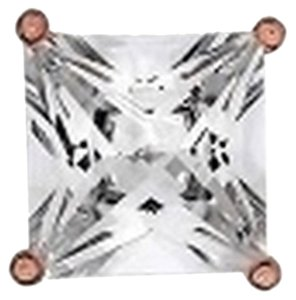 Other Icy Rose Gold Finish 1.25 Ct Lab Diamond Round Solitaire 925 Silver Earring Stud