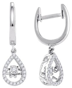 Luxury Designer 10k White Gold 0.33 Cttw Diamond Fashion Earrings by BrianGdesigns