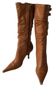Bronx Leather Buckle Tan Boots