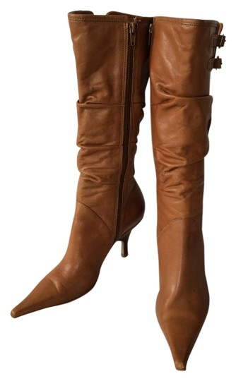 Bronx Leather Buckle Tan Boots Image 0