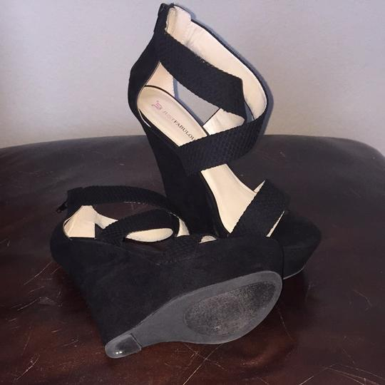 JustFab Black Platforms