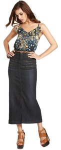 Buffalo David Bitton Utility Pockets A-line Silhouette Hits Above Ankle Skirt Dark Blue