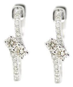 Other 14K White Gold 0.80Ct Diamond Hoops 5.6 Grams
