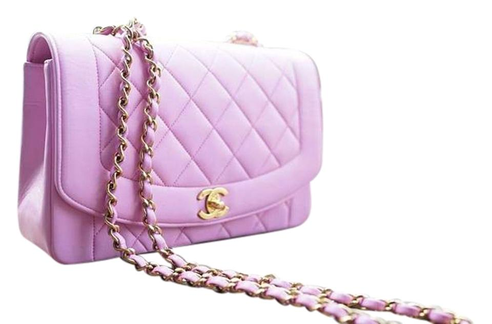 91b6c95e92a0d0 Chanel Diana Vintage Princess Single Flap Rare Pink Leather Shoulder Bag