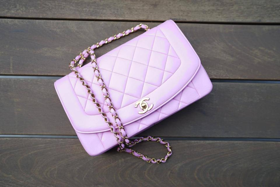 d9db3e714ad8e9 Chanel Diana Vintage Princess Single Flap Rare Pink Leather Shoulder Bag -  Tradesy