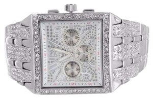 Geneva Mens Vintage Iced Out Lab Diamond Metal Band Watch Jojo Rodeo Numbered Dial Sale