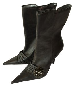 Steve Madden Leather Midcalf Brown Boots