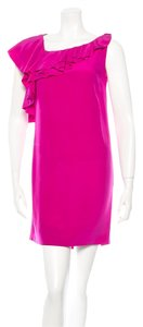 Diane von Furstenberg Silk Ruffle Dress