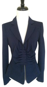 Armani Collezioni Fitted Dark Blue Jacket