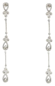 Other 14K White Gold 0.35Ct Diamond Dangle Drop Earrings 3.6 Grams