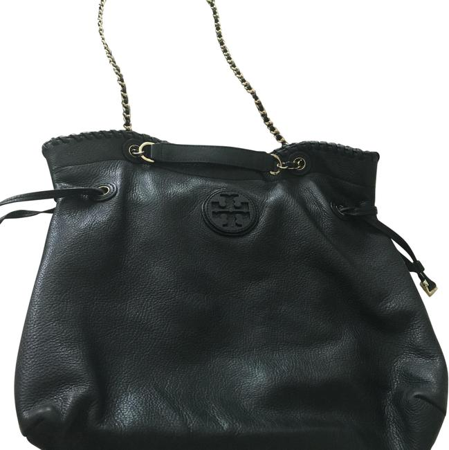 Item - Marion Slouchy Pebbled Black Leather Tote