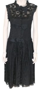 Chanel Elegant Lace Silk Dress