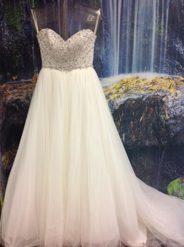 Maggie Sottero Ivory / Silver Tulle and Fully Beaded Top 3ms745 ...