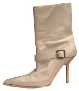 Narciso Rodriguez Wood Dustbag Italian white Boots