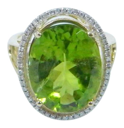 Preload https://img-static.tradesy.com/item/17142292/peridot-yellowish-green-elegant-round-shape-mm-starburst-cut-15-ct-052-total-diamond-surrounding-mai-0-1-540-540.jpg