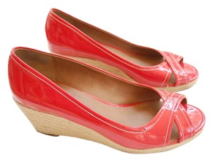 Franco Sarto Red Pink Watermelon Pink/Red Wedges