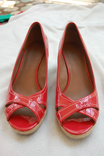 Franco Sarto Watermelon Pink/Red Wedges Image 1
