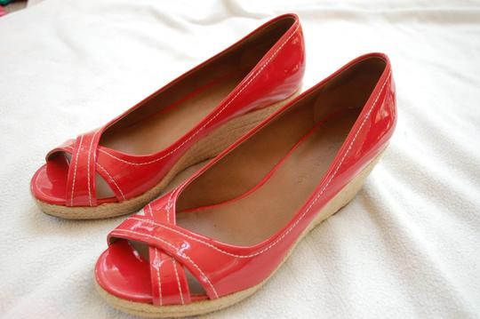 Franco Sarto Watermelon Pink/Red Wedges Image 2