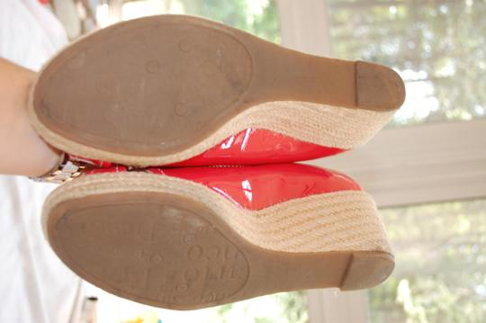 Franco Sarto Watermelon Pink/Red Wedges Image 4